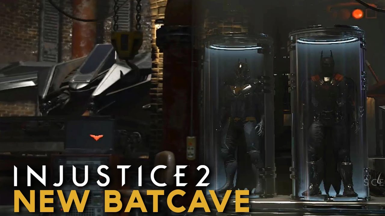 Injustice 2 - Tour Inside the NEW BATCAVE (All Batman\'s Outfits and ...