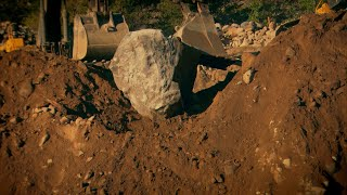 How To Move A Giant Boulder | Gold Rush