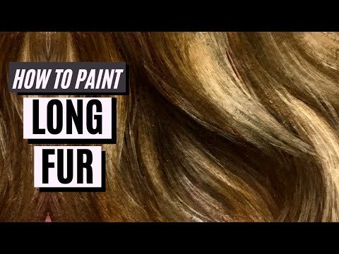 How to Paint Flowing Fur with Oil Paint or Acrylic Paint - Fur Tutorial