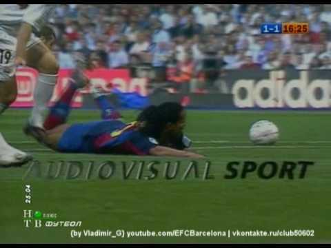 Real Madrid - Barcelona (1-2) 2nd half 2004 highlights, tricks