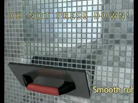 Installation video for mosaic tiles made of stainless