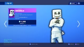 "NEW ""Marshmello"" Skin In The Shop Now!! Fortnite ITEM SHOP [January 31st, 2019] 