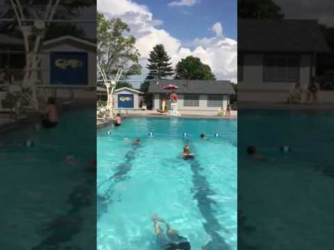 Flip at the pool