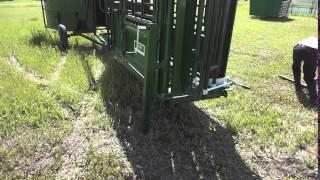 Portable Cattle Handling System Setup Including Fence Panels - Lakeland Group