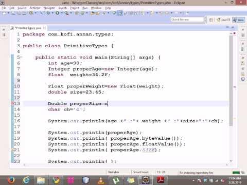 Java Wrapper classes tutorial