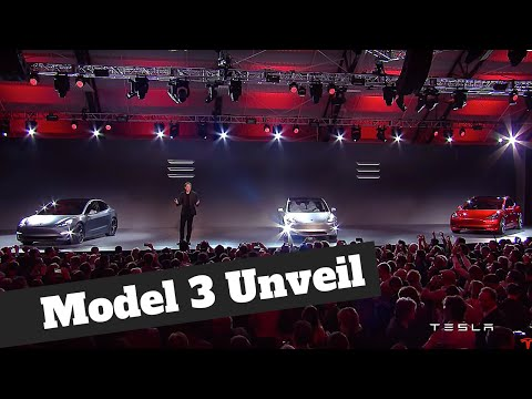 Tesla Model 3 - The Full Unveil by Elon Musk in HD