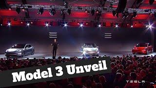 Tesla Model 3 - The Full Unveil by Elon Musk in HD