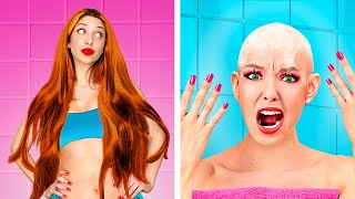 Thin Hair vs Thick Hair Problems/ Funny Awkward Situations by Challenge Accepted