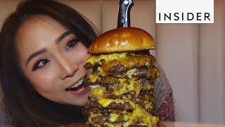 Burger With 15 Patties Is Almost Impossible To Finish