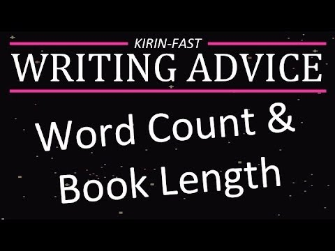 writing a book word count