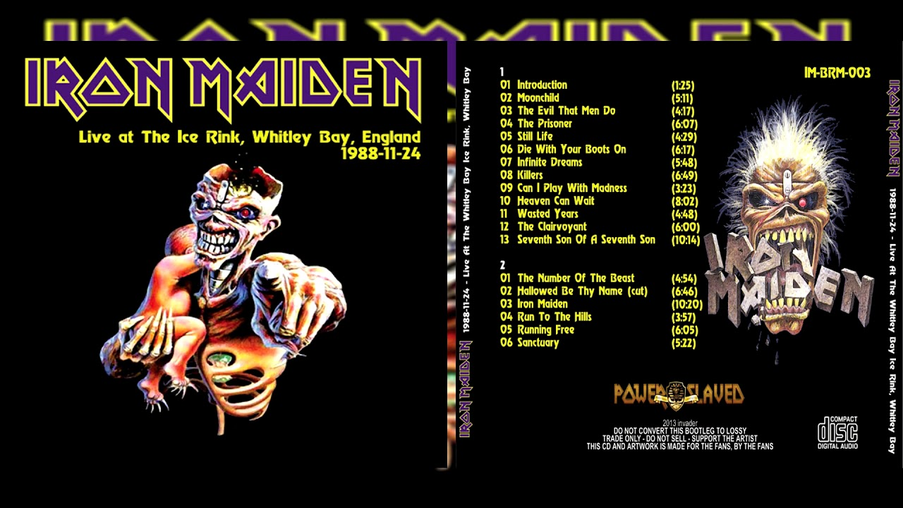 Iron Maiden Live At The Whitley Bay, Ice Rink, England 1988 (Full Bootleg)