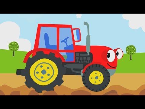 Kinderlieder - ein lustiges Lied für Kinder über einen fleißigen Traktor, der allen gerne hilft.
