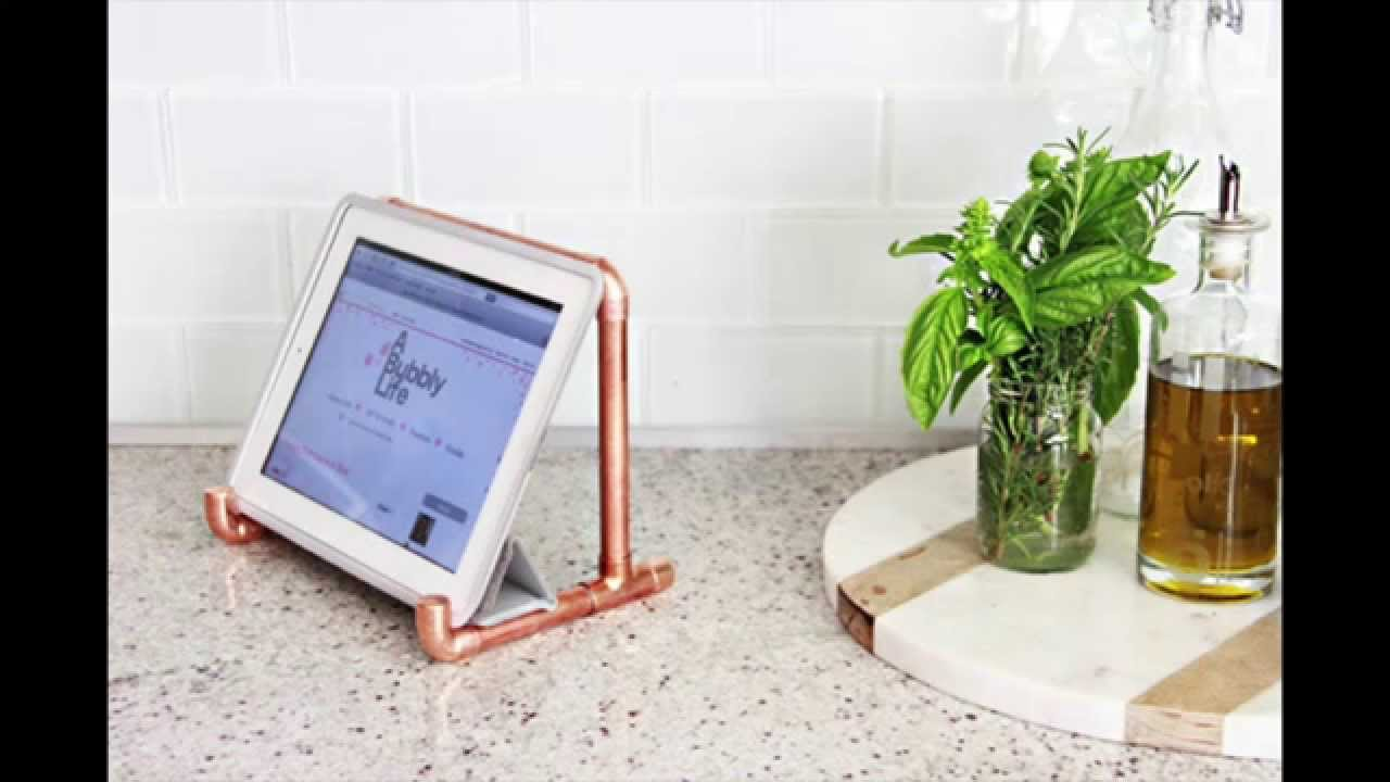 How To Make a Copper Tablet Stand - YouTube