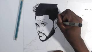 The Weeknd Starboy Timelapse Art