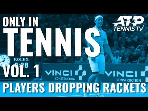 ONLY IN TENNIS Vol. 1: Players Dropping Rackets 😂