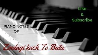 Zindagi Kuch To Bata (Bajrangi Bhaijaan) - Jubin nautiyal || Piano Tutorial