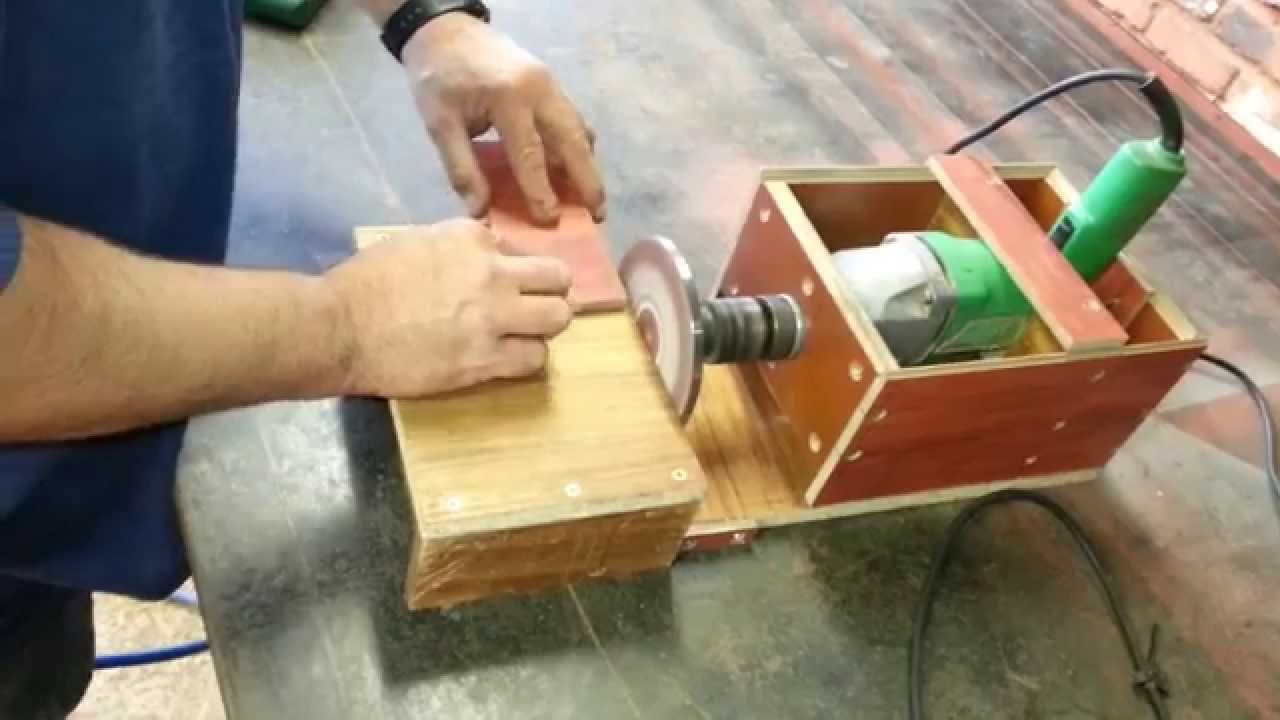 How to make a belt sander jig