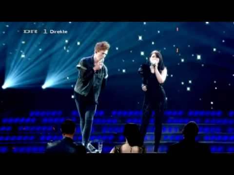 X-Factor 2010 DK finale - Tine / Erik Hasle - Hurtful