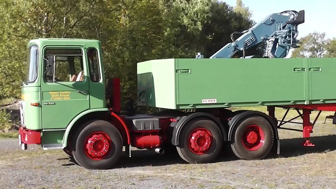 Alter MAN F8 20.320 LKW - Truck in HD - YouTube