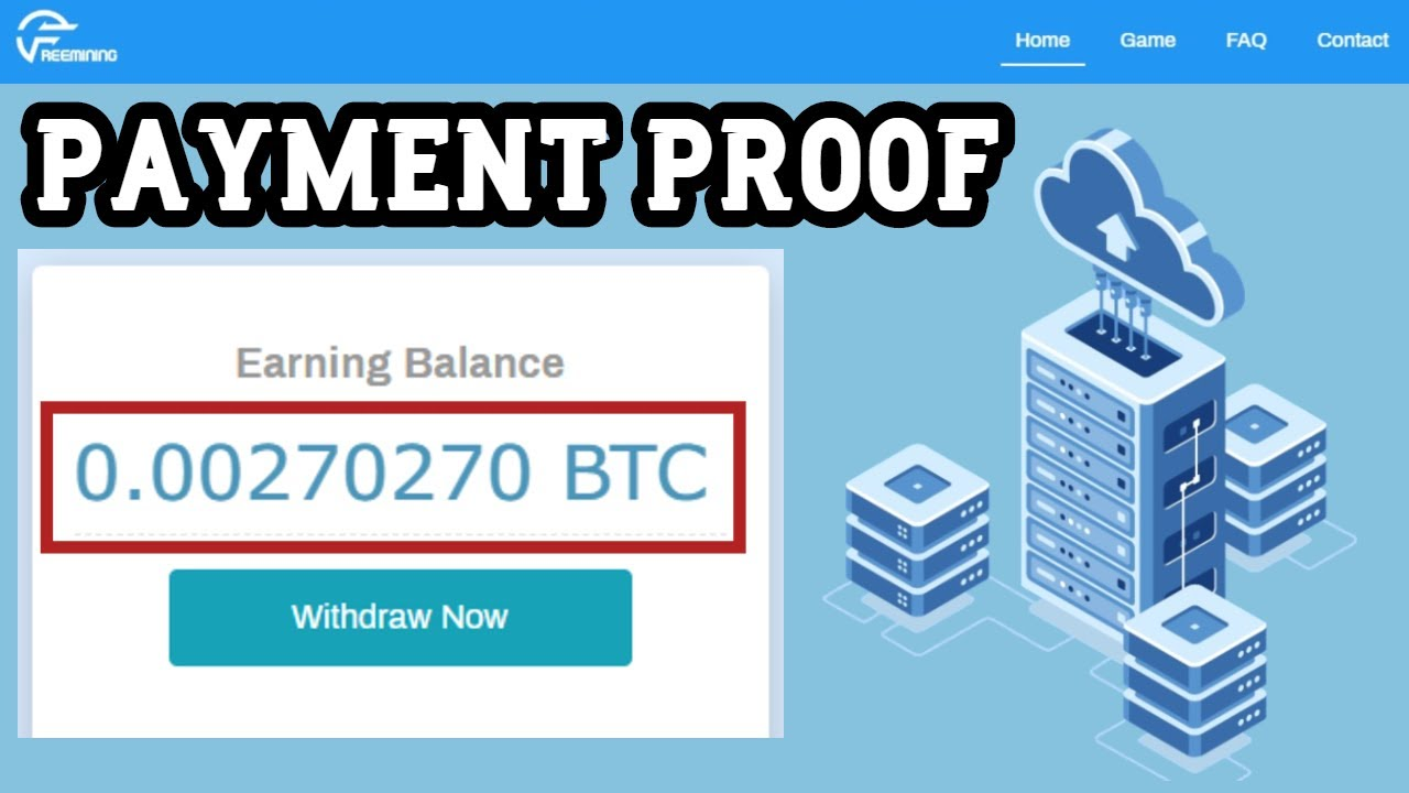 Freemining Co Free Bitcoin Cloud Mining Site 2020 I 0 0027 Btc Live Payment Proof Youtube