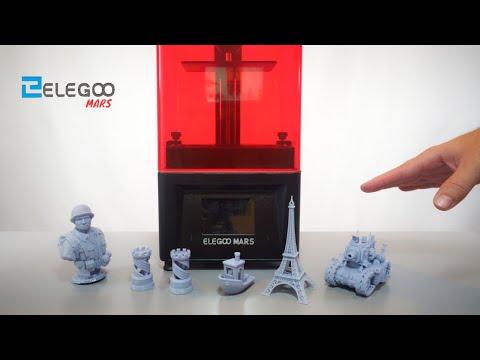 Elegoo Mars - Resin 3D Printer - Unbox & Setup