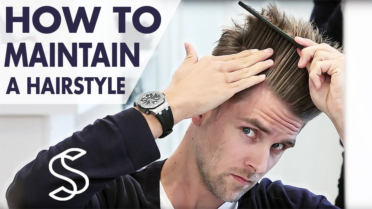 How To Maintain A Hairstyle Undercut And Volume Mens Hair