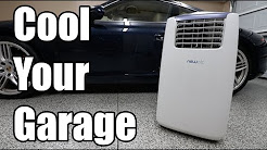 The BEST Way To Cool Down Your Garage On A Budget | New Air Portable Air Conditioner - AC14100H
