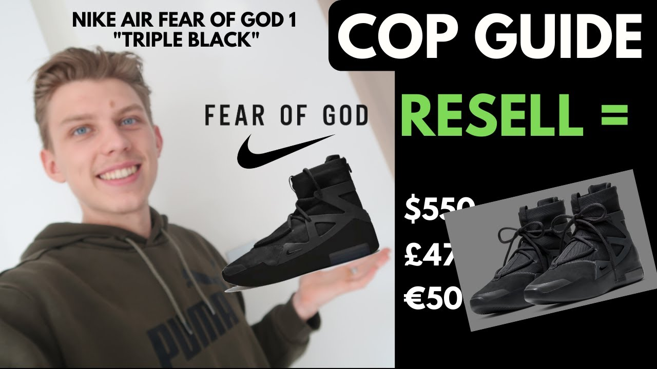 nike air fear of god resell