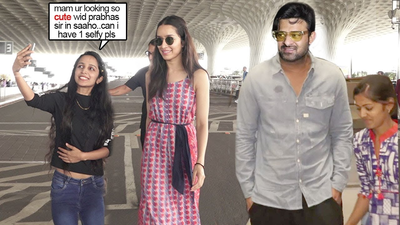Shraddha Kapoor feels so Happy Seeing Her FANS Reaction on Doing Saaho Movie Wid Prabhas @Airport