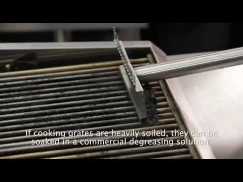 How to Clean a Vulcan® VTEC Charbroiler   Caring For and Maintaining the Units Emitter Panel