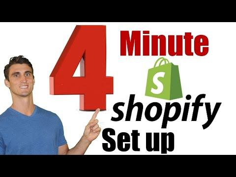 4 Minute Shopify Setup - How to Set Up an Online Store Fast