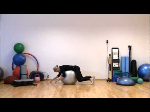 Stretching on Stability Ball | Workout II - supine - prone | Marina Aagaard, MFE
