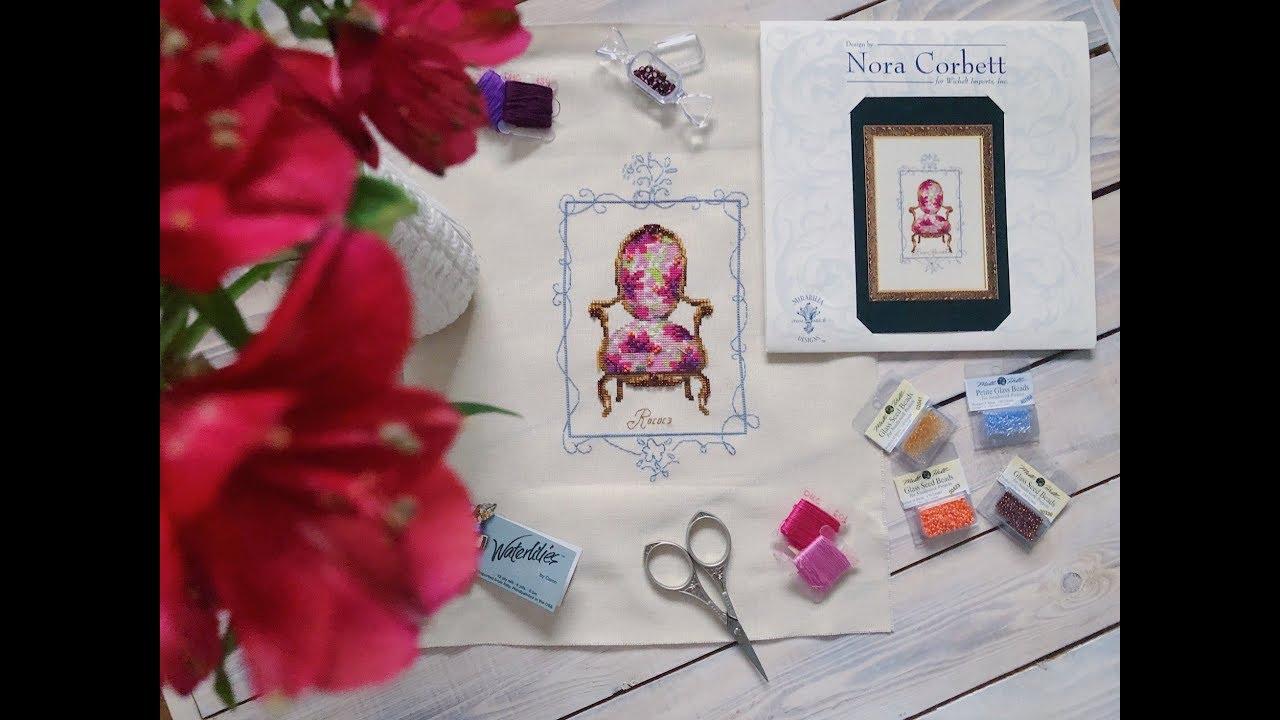 26.Nora Corbett Rococo Revival Готовая работа вышивка крестом/крестиком