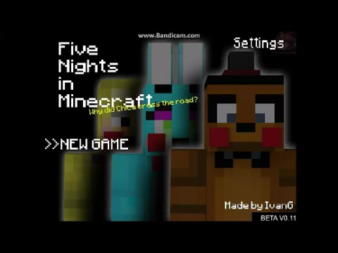 Five Nights in Minecraft Beta Demo By IvanG