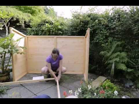 Putting Up Our Bike Shed Youtube