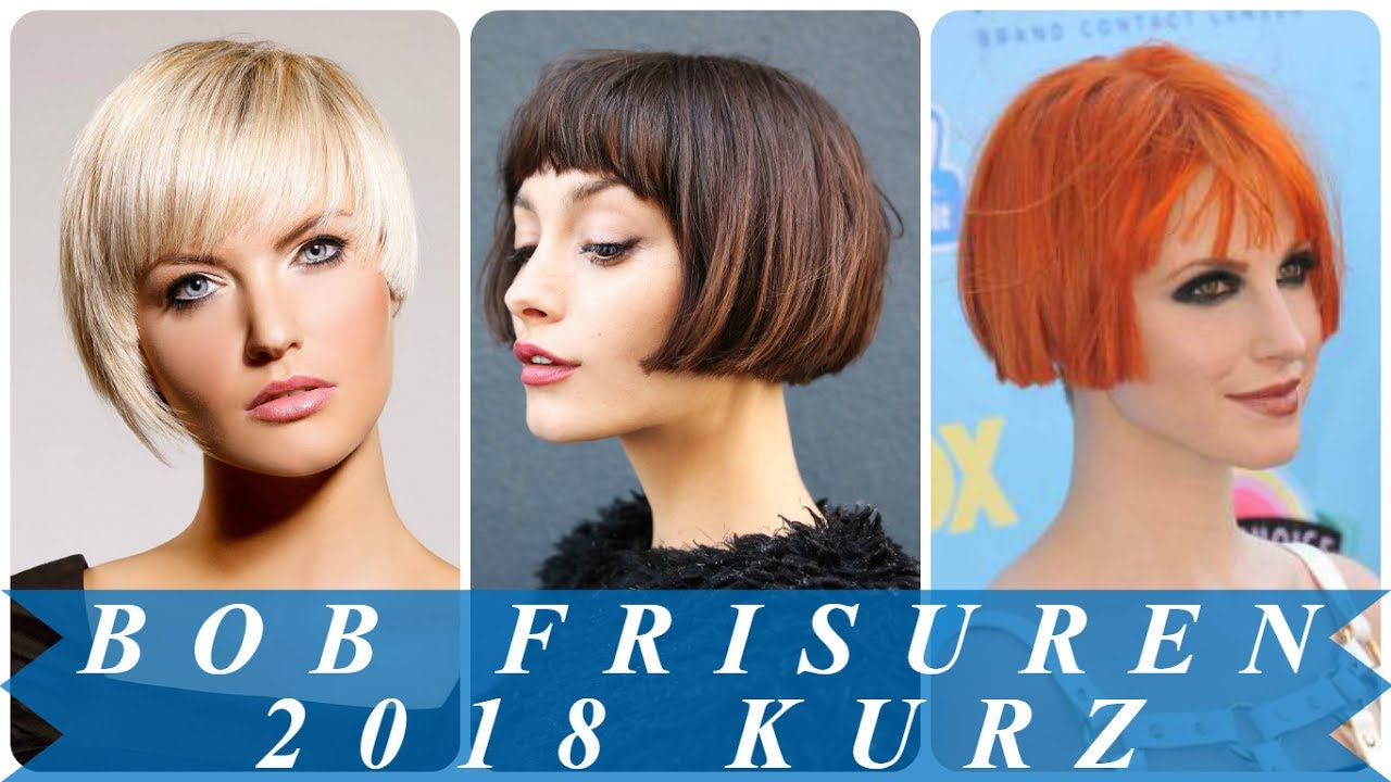 Elegante Kurzhaar Bob Frisuren 2018 Youtube
