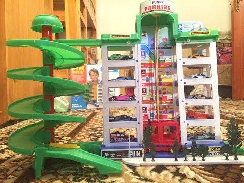 Видео Детский паркинг Гараж. Hot Wheels Машинки Гонки Трек Хот Вилс Cars