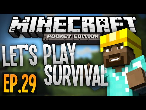 """Survival Let's Play - Ep. 29 """"PIRATE SHIP"""" - Minecraft Pocket Edition"""