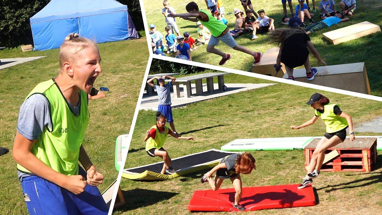 Parkour Hra na BABU! | Zem je Láva na Tary Camp 2020