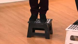 Kikkerland Set Of 2 Easy-fold And Easy-store Step Stools With Diana Urbine