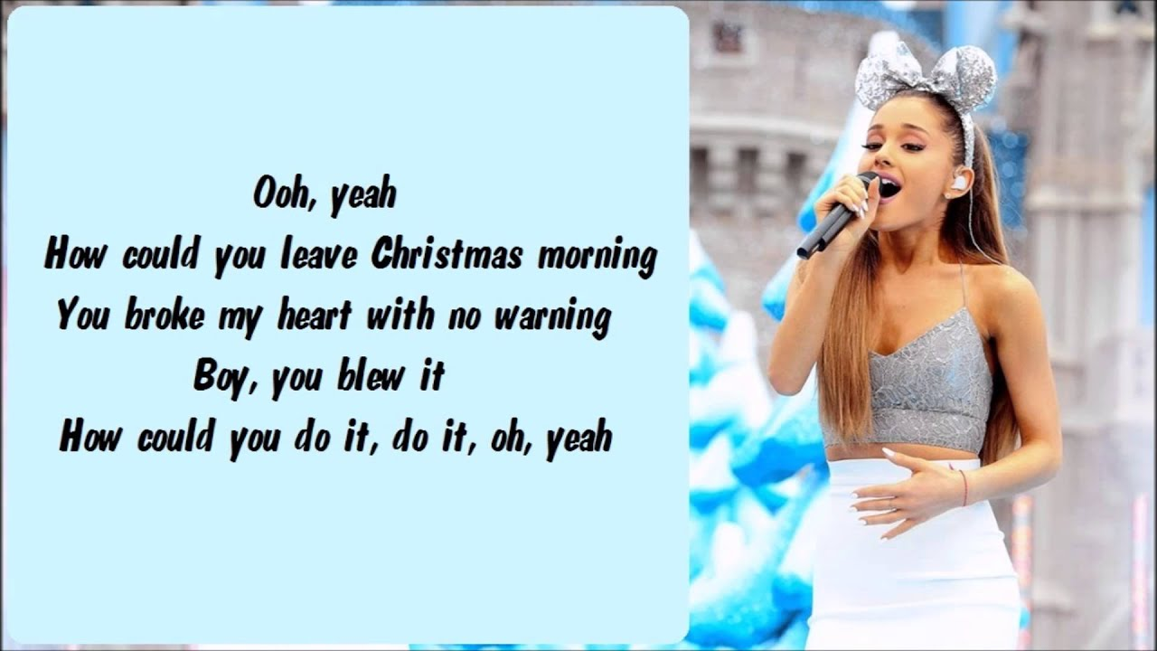 Ariana Grande - Last Christmas Karaoke / Instrumental with lyrics ...