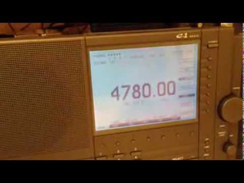 RADIO DJIBOUTI 4780 kHz on ETON E1 and Sony ICF2010