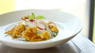 Pasta & Chicken Salad With Yogurt Sauce / سلطة المكرونة مع اللبن