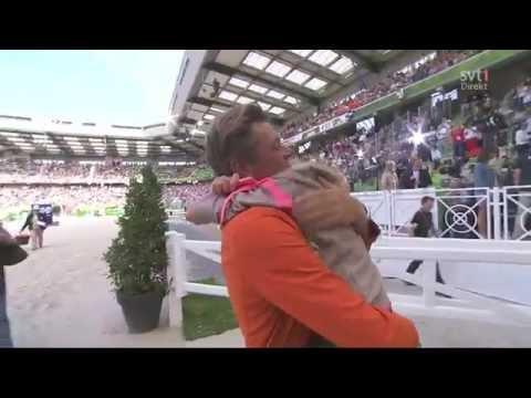 Jeroen Dubbeldam With Daughter Celebrating The World Champion Title