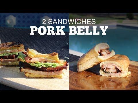 Pellet Grill Pork Belly Sammich 2 Ways - Green Mountain Grills