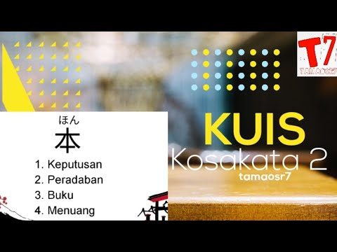 Kuis mendengarkan kosakata bahasa jepang 1 from YouTube · Duration:  3 minutes 3 seconds