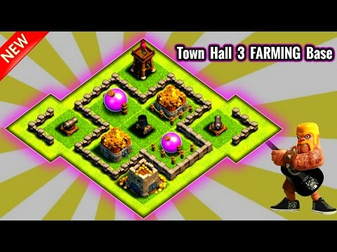 Clash Of Clans - Town Hall 3 FARMING Base - BEST TH3 Defense Strategy