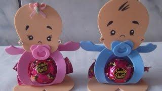 Porta bombom para chá de bebe com Sandra nunes de oliveira