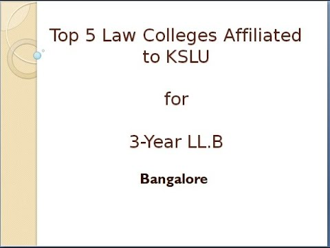 Top 5 Law Colleges in Bangalore