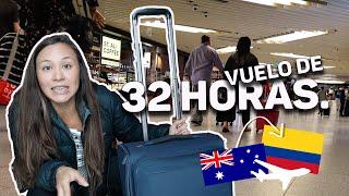 Así en un VUELO DE 32 HORAS ✈️ (De Australia a Colombia) | Acá en Australia